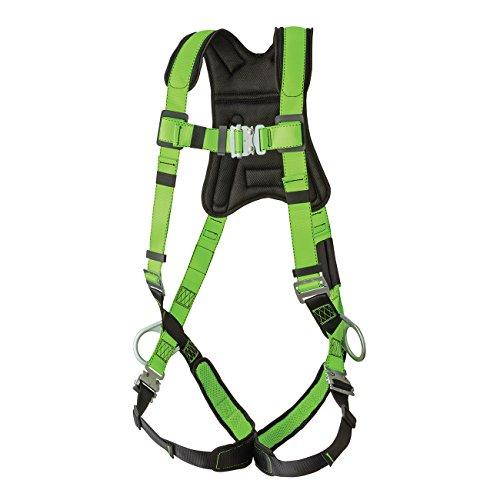 Peakworks V8006110 Peak Pro Series, Full Body Padded Safety Harness, Back D-Ring, (2) Side D-Rings, Stab Lock, Polyester, Universal, Green by Peakworks (Image #4)