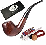 LifeVV Tobacco Pipe Ebony Wooden Smoking Pipe With Accessories And Gift Package