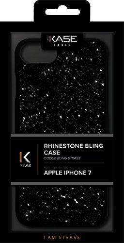 Coque Bling Strass pour Apple iPhone 6/6s/7/8, Minuit Noir