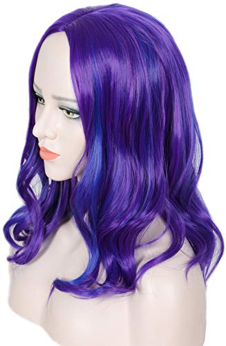 Linfairy Kids Wig Halloween Costume Cosplay Wig for Child (purple)