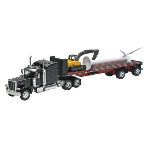 New-Ray Toys 1/32 Peterbilt 389 Flatbed w/Wind Turbine SS-10333 NIB -