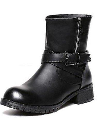 XZZ  Damenschuhe Damenschuhe Damenschuhe - Stiefel - Lässig - Kunststoff - Keilabsatz - Geschlossene Zehe - Schwarz   Braun B01L1GVRSA Sport- & Outdoorschuhe Viele Sorten d03271