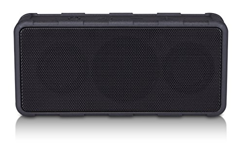 Blackweb Rugged Water-Resistant Portable Rechargeable Bluetooth Wireless Speaker System, Black (Non-Retail Packaging)