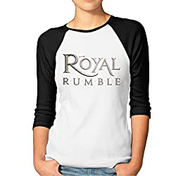 Cupp Women S Royal Rumble Logo Women Raglan Sleeve Baseball Tshirts Black