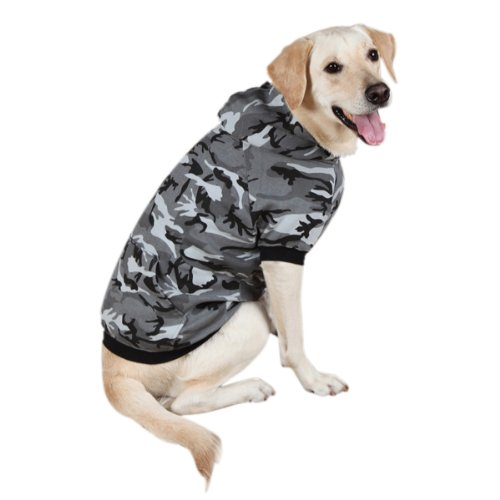 Casual Canine Cotton Camo Dog Hoodie, X-Small, Black