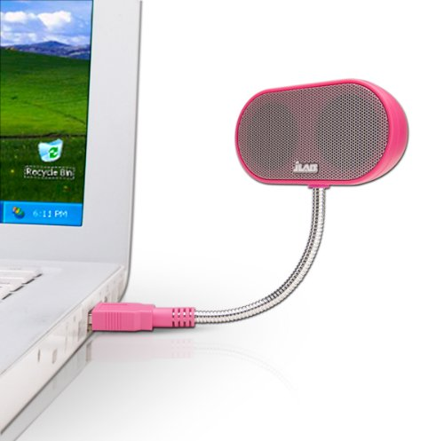JLab USB Laptop Speakers - Portable, Compact, Travel Notebook Speaker for Windows PC and Mac - B-Flex Hi-Fi Stereo USB Laptop Speaker - Cotton Candy Pink ()