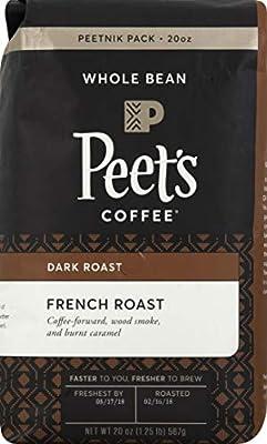 Peet's Coffee French Roast, Dark Roast Whole Bean Coffee from Starbucks