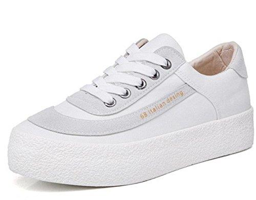 Retro Khaki Xie Inferiore Svago Spazzola 36 Movimento Confortevole Spessore White Tre Shoes Di Lady 38 Studenti Scarpe Tela Letterari Colori qqrEAafw