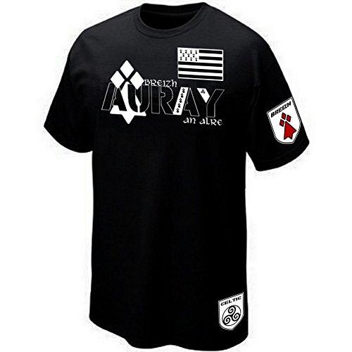 Bzh Drapeau Celtic Breizh Auray Morbihan shirt Italia Bretagne Triskell Prima T W7qz6SX8