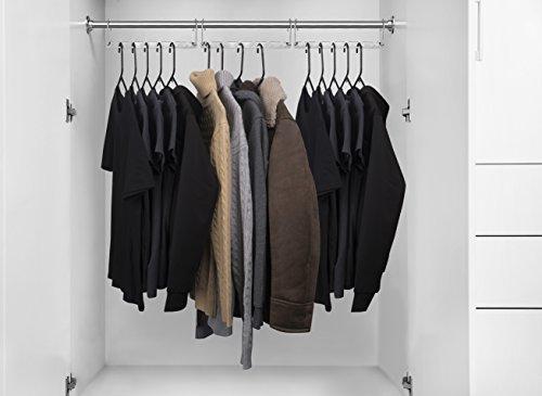 HOUSE DAY 6 Pack Metal Wonder Magic Hangers Space Saving Hangers Closet Space Saving Wardrobe Clothing Hanger Oragnizer, Updated Hook Design