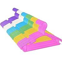 Baby Hangers,Kids White Plastic Hangers for Baby Clothes Toddler Hangers Infant Clothes Hangers