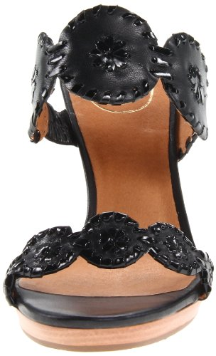 Wedge Patent Jack Luccia Women's Black Sandal Rogers Black BfqwnCFt