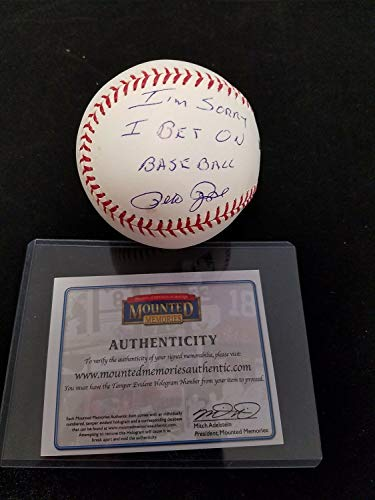 - Pete Rose Autograph Autographed Signed MLB Baseball Sorry I Bet On Baseball Mounted Memories - Certified Signature