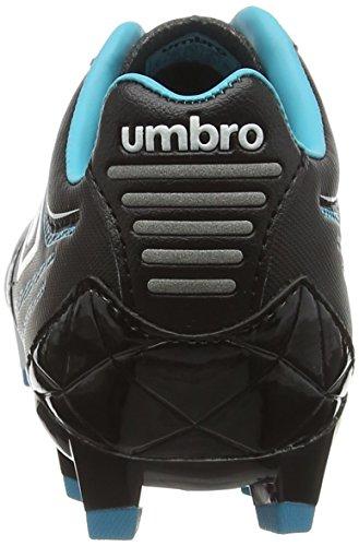 Umbro Medusae Premier Hg-Jnr, Botas de Fútbol para Niños Negro (Ecg-Black/White/Bluebird)