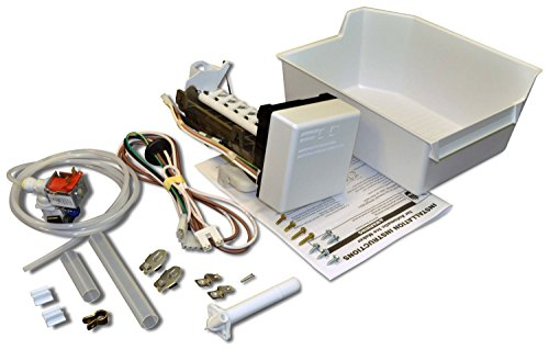 1108106 - OEM FACTORY ORIGINAL WHIRLPOOL KENMORE MAYTAG COMPLETE ICEMAKER ADD ON KIT For plastic liner Whirlpool, Kitchen Aid, Roper, Estate and Kenmore (with model prefix 106) refrigerator models made between 1984-1993. Incorporates long flat power cord and plug. Kit includes wiring harness, fill tubes, water valve, ice bin, hardware and instructions
