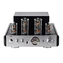 Monoprice 25-Watt AB Power Amplifier Stereo Hybrid Tube Amp with Bluetooth
