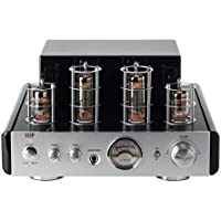 Monoprice 113194 25 Watt AB Power Amplifier Stereo Hybrid Tube Amp with Bluetooth