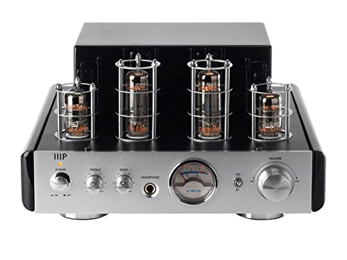 Monoprice 113194 25 Watt AB Power Amplifier Stereo Hybrid Tube Amp with Bluetooth Best Selling Monoprice Inc.