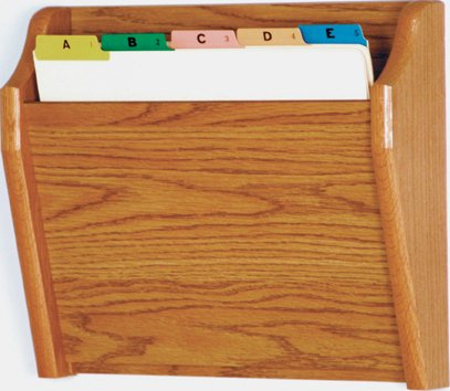 Wooden Mallet CH14-1 Medium Oak Single Pocket Wall Mounted File/Chart Holder