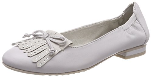 MARCO TOZZI premio WoMen 24222 Closed Toe Ballet Flats Grey (Lt.grey 207)
