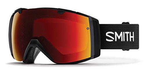 Smith Optics Adult I/O Snowmobile Goggles Black / ChromaPop Sun Red Mirror by Smith Optics