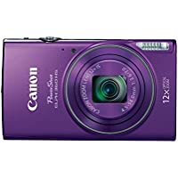 Canon PowerShot ELPH 360 HS (Purple) with 12x Optical...