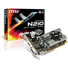 MSI N210-MD1G/D3 GeForce 210 Graphic Card - 589 MHz Core - 1 GB GDDR3 SDRAM - PCI Express 2.0 x16 -