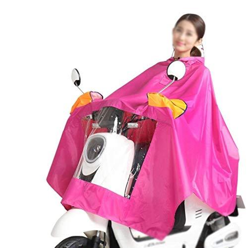 Ragazza Ragazza Ragazza Elettrico Cappello Chic Impermeabile Antipioggia Spessa Spessa Spessa Auto Moda Unita Doppio All'Aperto 2 Impermeabile Poncho Moto Tinta HUpBAwq