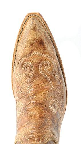 Lucchese N4689.s33 Femmes Pecan Lunaire Cuir De Veau Cowboy Western  Bottes