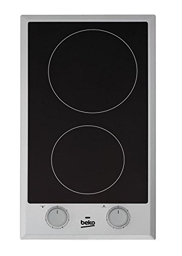 Beko HDCC 32200X hobs - Placa Vitrocerámica (Mandos Giratorios, 2900W, 220V) Acero inoxidable: Amazon.es: Grandes electrodomésticos