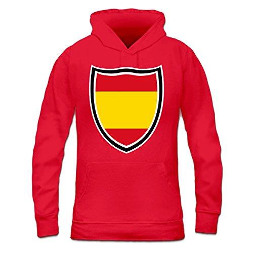 Sudadera con capucha de mujer Spain Shield Flag by Shirtcity Rojo