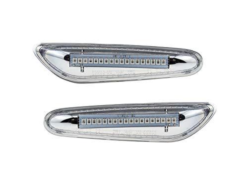 LETRONIX LED Seitenblinker Blinker Module Klar Silber E39 E46 E81 E82 E87 E88 E90 E91 E92 E60 E61 E83 E84 E53 mit E-Pr/üfzeichen