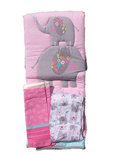 Little Elephants Collection, 3 Piece Nursery Set, Comforter, Crib Sheet & Dust Ruffle