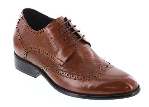 CALTO Chaussures de Ville à Lacets Pour Homme Marron Marron