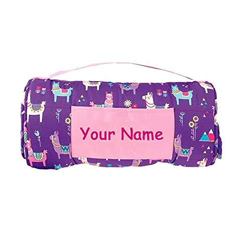Stephen Joseph Personalized Colorful Llama and Flowers Themed All Over Print Nap Mat with Custom Name - Mat Stephen Joseph Nap
