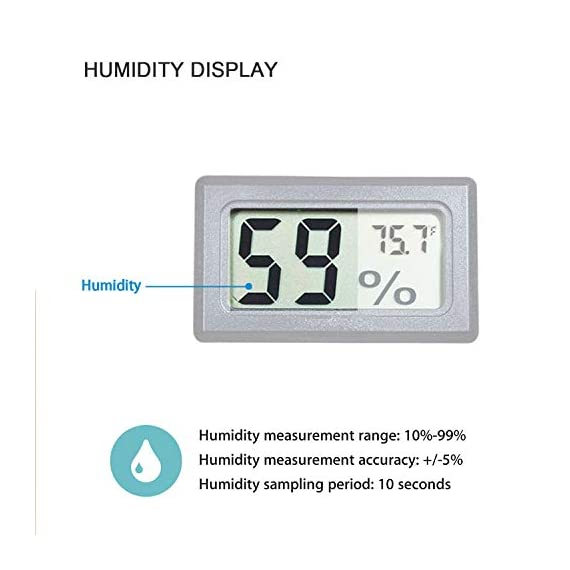 Veanic 4-pack mini digital electronic temperature humidity meters gauge indoor thermometer hygrometer lcd display fahrenheit (℉) for humidors, greenhouse, garden, cellar, fridge, closet 4 mini digital humidity thermometer allows you to easily know the temperature and humidity around you 2in1 meter with built-in probe; digital electronic thermometer and hygrometer for measuring temperature and humidity for indoor use fahrenheit (°f) display, this thermometer displays temperature in fahrenheit