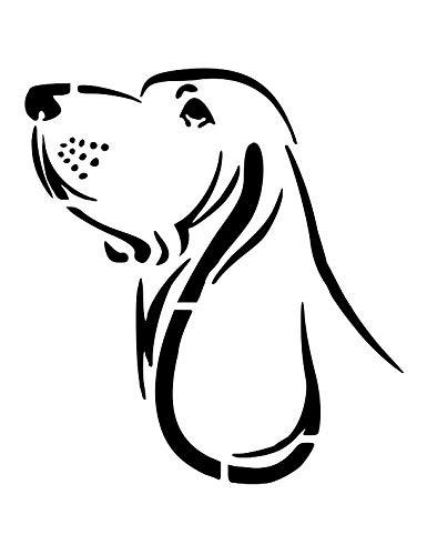 BASSET HOUND Dog Breed Face 8.5 x 11 Stencil Plastic Sheet NEW S124