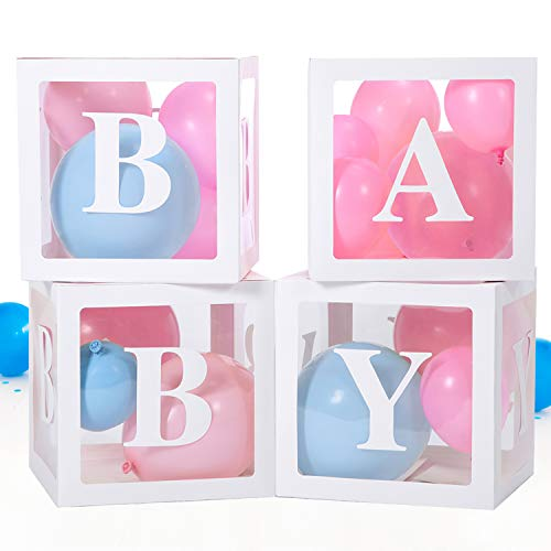 Baby Box, Baby Shower Decorations for Baby Shower Boxes - 20 Pieces Blocks Decorations for Gender Reveal Party, Perfect as Baby Shower Blocks Decoration for Boy and Girl, Balloon Box Decoration