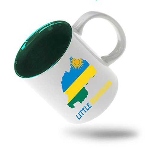Style In Print Little Rwandan Coffee Tea Ceramic Inner Color Mug White/Green