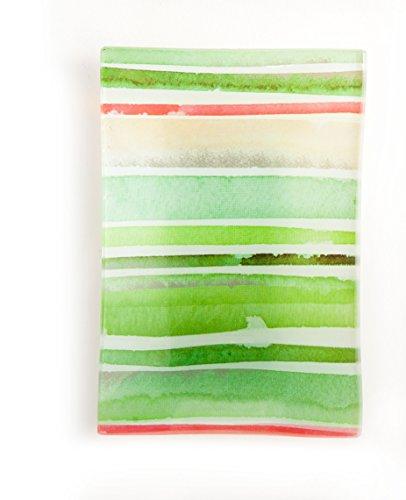 Green Glass Dish - Via Mercato Decorative Glass Soap Dish, Green
