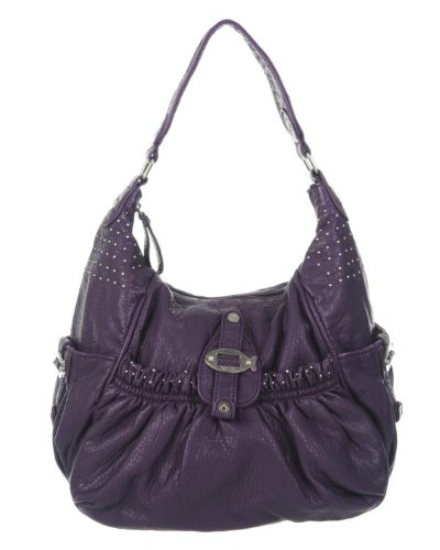 b2bcdea2d668 Nica Rowan large scoop stud detail shoulder bag - Purple  Amazon.co.uk   Shoes   Bags