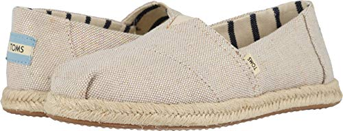 Espadrilles Canvas Shoes - TOMS Women's Alpargata on Rope Pearlized Metallic Canvas On Mono Rope 6.5 B US