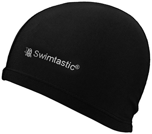 Swimtastic Lycra Swim Cap, Black