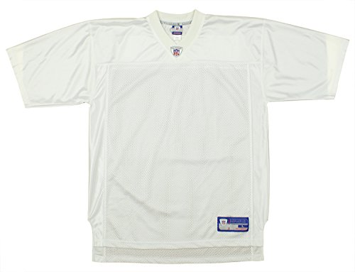 NFL Mens Blank Replica Jersey, White Large - Blank Dazzle Cloth
