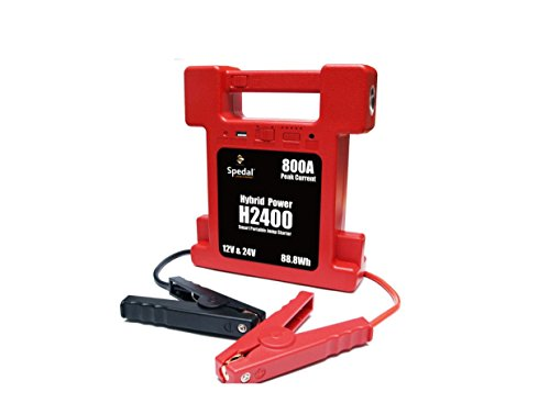(Super Compact 26000mAh 12/24V switchable Heavy Duty Battery Jump Starter w/Lamp 800A Peak)
