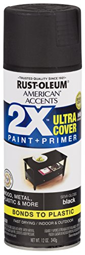 Rust-Oleum 327950-6 PK American Accents Spray Paint, Semi-Gloss Black