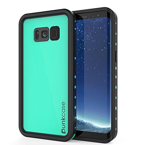 Galaxy S8 Plus Waterproof Case, Punkcase [StudStar Series] [Slim Fit] [IP68 Certified] [Shockproof] [Dirtproof] [Snowproof] Armor Cover for Samsung Galaxy S8 Plus [Teal]