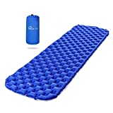 Inflatable Sleeping Mat, Treatlife Ultralight Camping Pad Compact Waterproof Moistureproof Roll Mattress for Hiking, Backpacking, Hammock, Tent For Sale