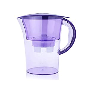 Water Pitcher - Balakie Portable Carbon Charcoal Filter Bollte/ 8 Cup Drinking Water Purifier Water Bottle Filter /2.5L Kitchen Water Purifiers Kettle +Purification Filter (Purple)