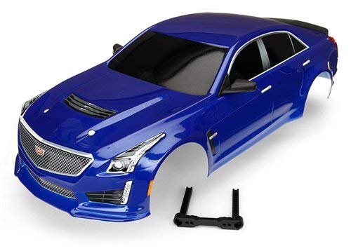 Traxxas TRA8391A Body, Cadillac CTS-V, Blue (Painted, Decals Applied)